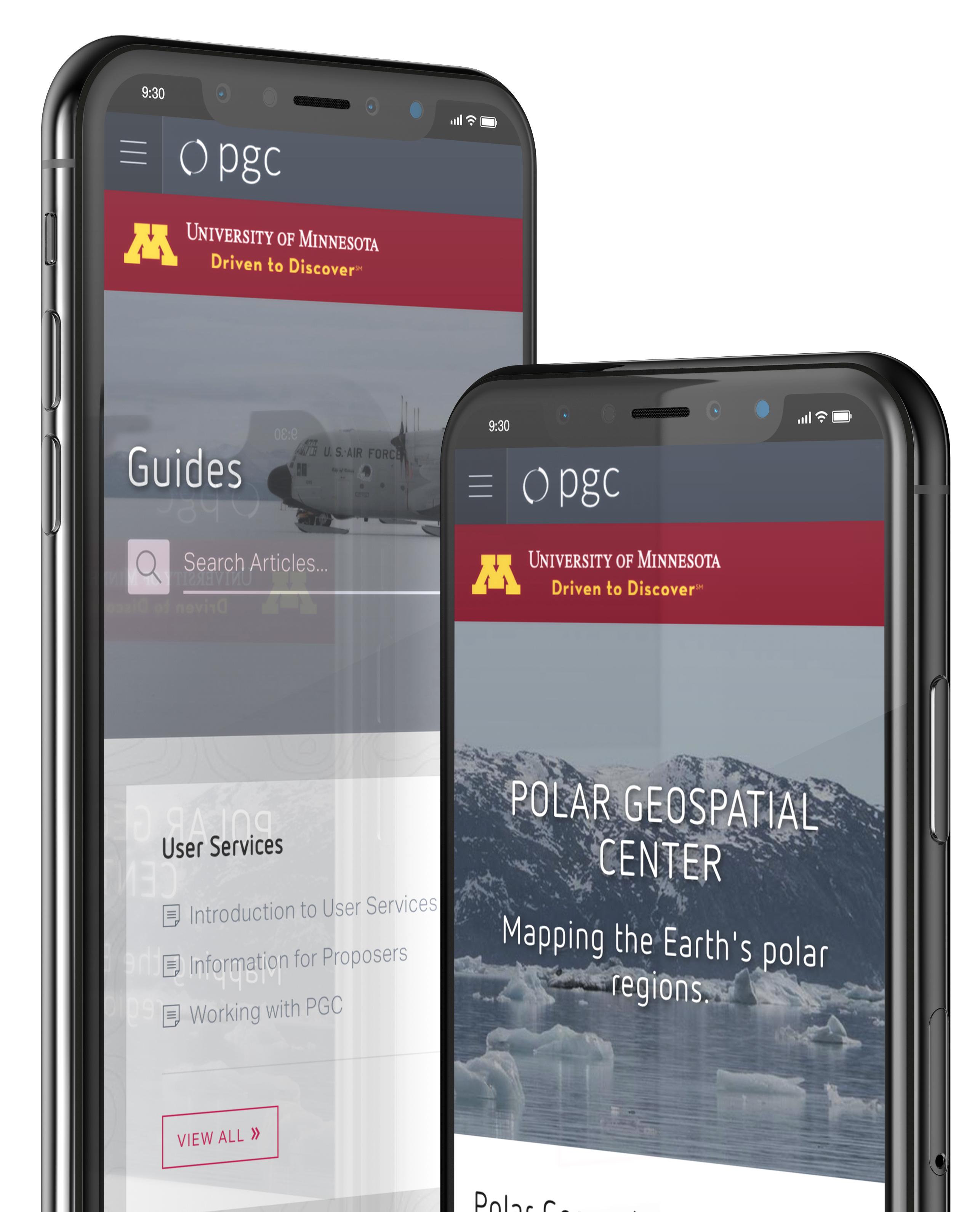 Mobile-friendly phone website mockup