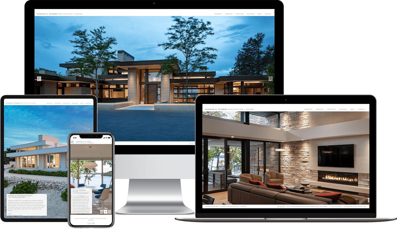 Stinson architect responsive website design