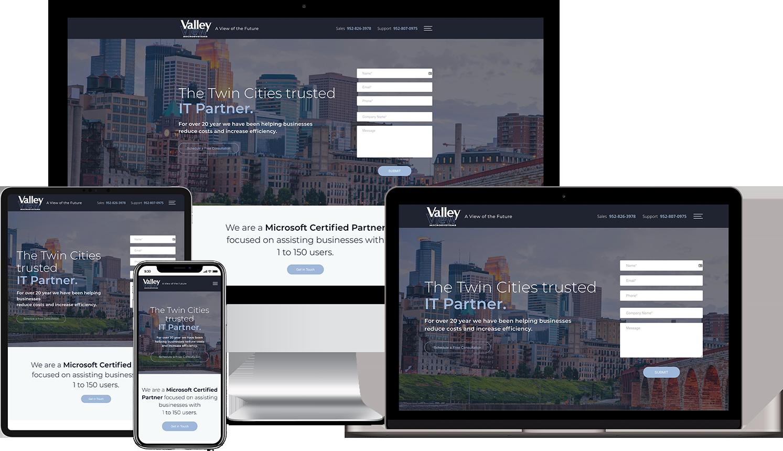 Valley View Microsystems Custom Responsive WordPress Website Design Mockup