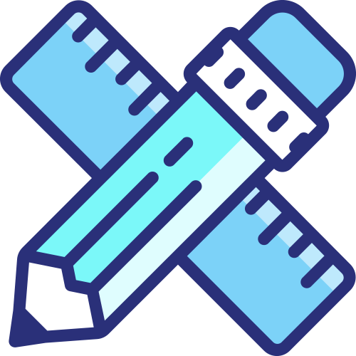 Icon - Pencil and Ruler (Website Content Updates)