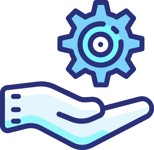 Icon Hand Holding Gear