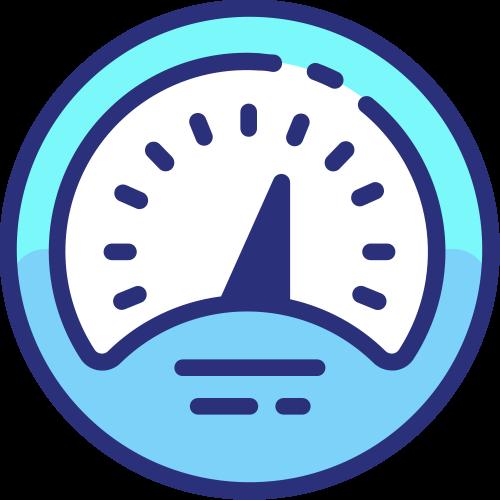 Icon speedometer website performance monitoring