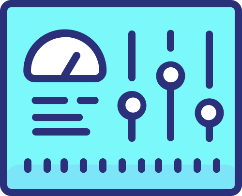 Icon dashboard settings website management