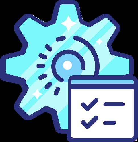 Icon gears checked list - website updates