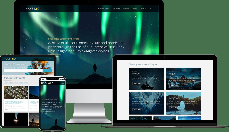 HaystackID Responsive Website Design Example